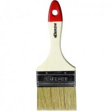 Кисть плоская DERZHI МАСТЕР, светлая натуральная щетина, деревянная ручка, 75мм(1/12/288) 8103-075