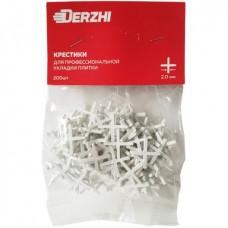 Крестик DERZHI для кафеля пластиковый 2,0 мм <200 шт> (1/100) 383-02-20