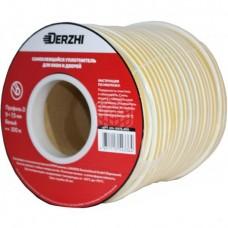 Уплотнитель DERZHI  (белый) 9 х7,5 мм D <100 м>