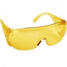 Очки защитные Dexx, поликарбонатная монолинза с боковой вентиляцией, жёлтые