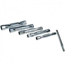 Набор торцевых ключей-трубок Sparta, 8-17 мм, вороток, сталь, 6 шт.