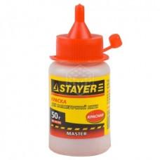 Краска Stayer для разметочных шнуров, красная 50 г