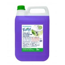 Гель для устранения засоров  Forest сleanTURBO, 5 литров,  голубой, ЕВРО