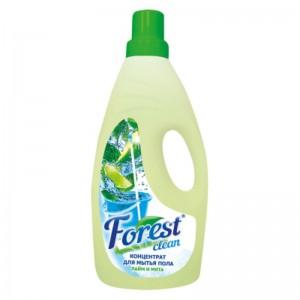 Концентрат для мытья пола Forest сlean Лайм и мята нейтральный запах, 1000 мл, зеленый