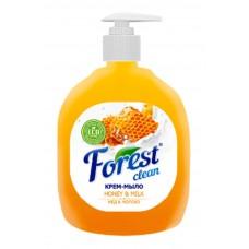 Крем-мыло  Forest сlean Мёд и молоко с дозатором, 500 гр ,Оранжевое