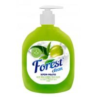 Крем-мыло  Forest сlean Алоэ вера, зеленый чай и олива с дозатором, 500 гр ,Зеленое