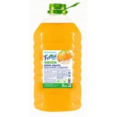 Крем мыло  Forest сlean   Мёд и молоко , 5 литров, перламутр ПЭТ