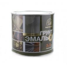 Грунт-эмаль по ржавчине Радуга 3 в 1 красно-коричневая 1,9 кг