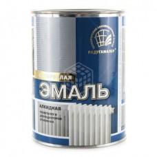 Эмаль алкидная Радуга для радиаторов отопления супербелая 0,9 кг