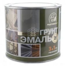 Грунт-эмаль по ржавчине 3 в 1 Радуга, чёрная, 1,9 кг