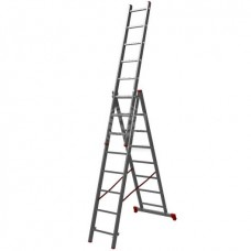 Лестница Новая высота NV123, трёхсекционная, алюминиевая, 3х8 ступеней