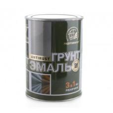 Грунт-эмаль по ржавчине Радуга 3 в 1 зеленая 0,9 кг