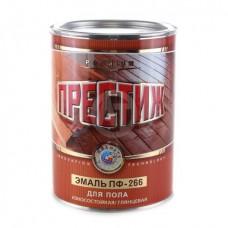Эмаль Престиж ПФ 266 красно-коричневая 0,9 кг