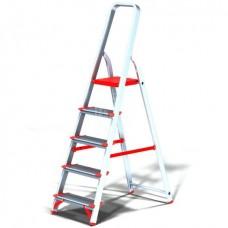Стремянка Новая высота NV511 проф, алюминиевая, широкоступенчатая, 5 ступеней
