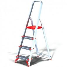 Стремянка Новая высота NV511 проф, алюминиевая, широкоступенчатая, 4 ступени