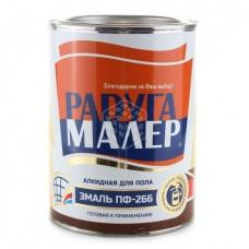 Эмаль Радуга ПФ-266 красно-коричневая 0,9 кг
