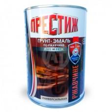 Грунт-эмаль по ржавчине Престиж серая 0,9 кг