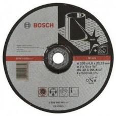 Круг шлифовальный Bosch, по нержавеющей стали, 230х6х22,23 мм, выпуклый