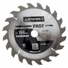 Диск пильный Stayer Master Fast-Line по дереву 190*20 мм 24Т