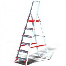 Стремянка Новая высота NV511 проф, алюминиевая, широкоступенчатая, 6 ступеней