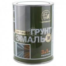 Грунт-эмаль по ржавчине 3 в 1 Радуга, чёрная, 0,9 кг