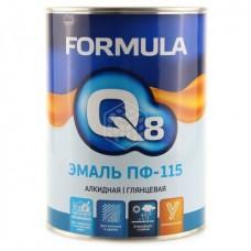 Эмаль Formula Q8 ПФ 115 черная 0,9 кг
