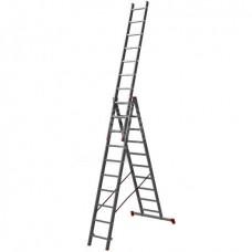 Лестница Новая высота NV123, трёхсекционная, алюминиевая, 3х10 ступеней